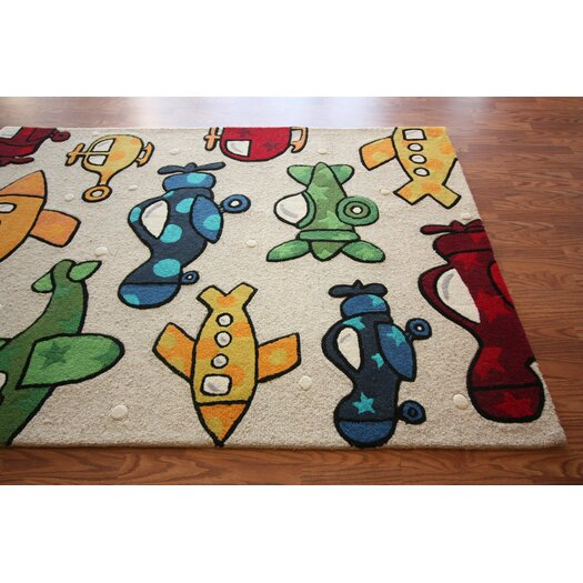 nuLOOM Kinder Natural Planes Area Rug