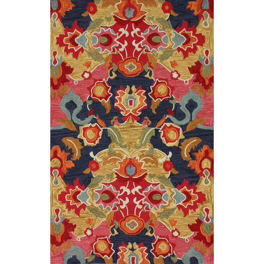 nuLOOM Pop Nina Red/Blue Area Rug
