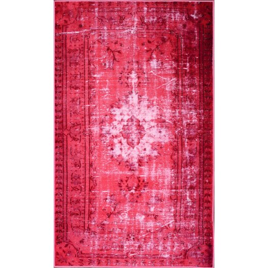 nuLOOM Hawkesbury Overdyed Style Harper Pink Floral  Area Rug