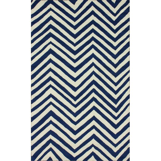 nuLOOM Homestead Navy Arron Chevron Area Rug