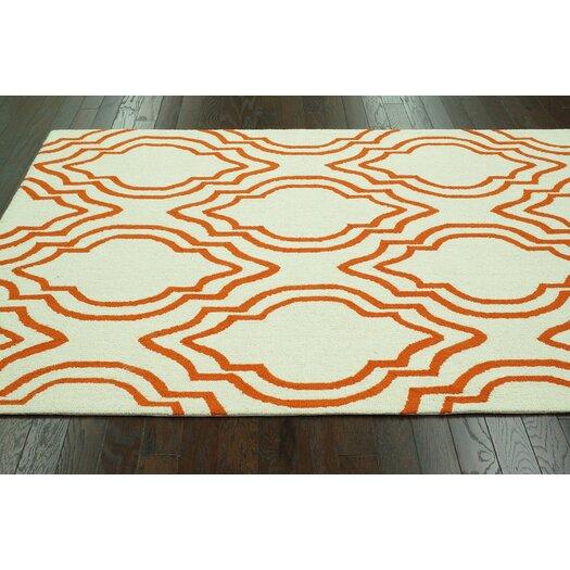 nuLOOM Trellis Orange Moderno Area Rug