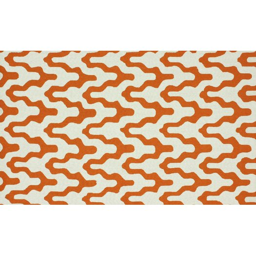 nuLOOM Trellis Orange Rhonda Area Rug