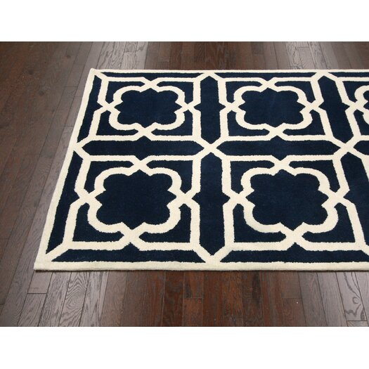 nuLOOM Moderna Navy Panel Area Rug