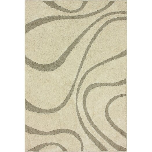 nuLOOM Veneti Cream Curves Area Rug