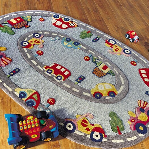 nuLOOM Kinder Streets Ride Gray Area Rug