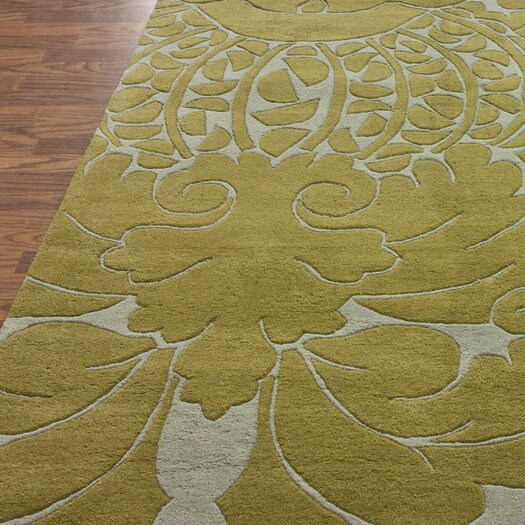 nuLOOM Bella Modern Yellow Damask Area Rug