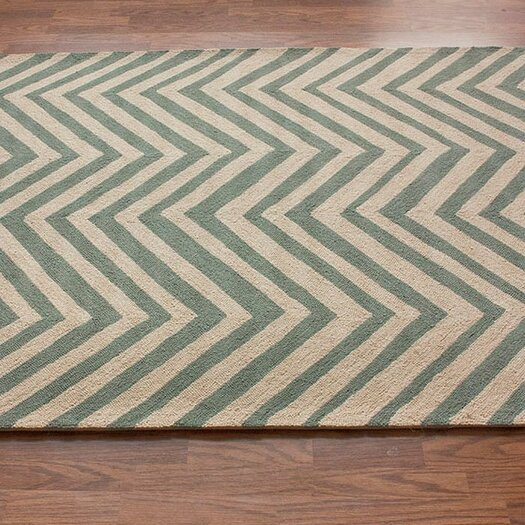 nuLOOM Chelsea Light blue / Ivory Chevron Area Rug