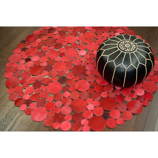 nuLOOM Hides Red Bright Geometric Area Rug