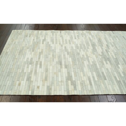nuLOOM Hides Off White Patches Striped Area Rug