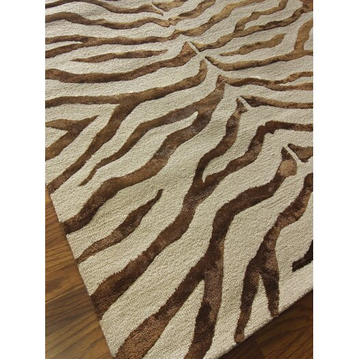 nuLOOM Earth Brown/Beige Radiant Zebra Area Rug