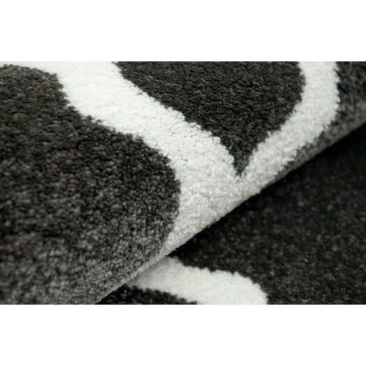 nuLOOM Shag Grey Trellis Area Rug