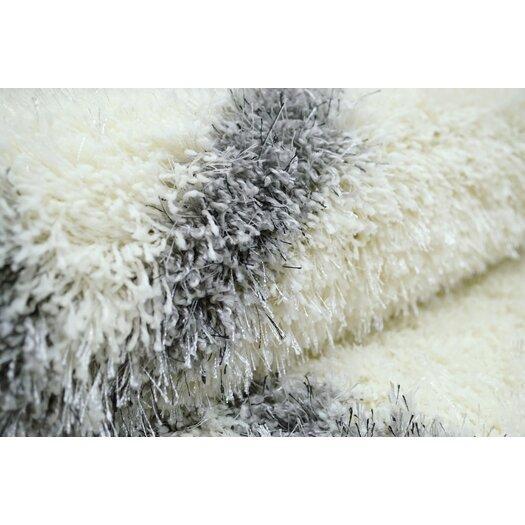 nuLOOM Shag Black & White Plush Area Rug
