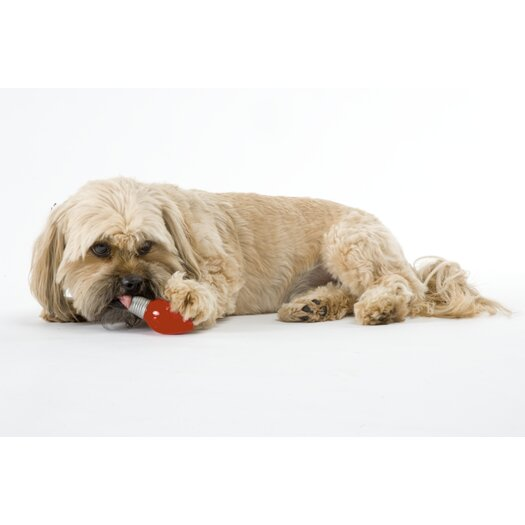 Planet Dog Orbee Tuff Lil' Bulb Dog Toy with Treat Spot in Red