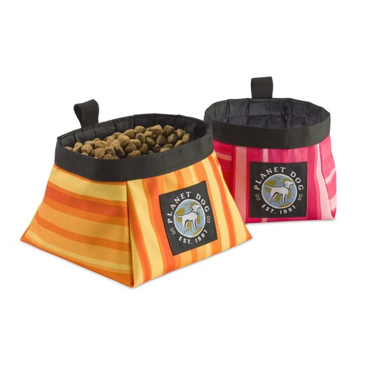 Planet Dog On The Go Food and Water Bowl Forest
