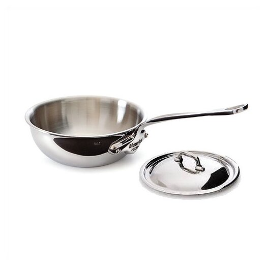 Mauviel M'cook Cook'Style Curved Saute Pan with Lid