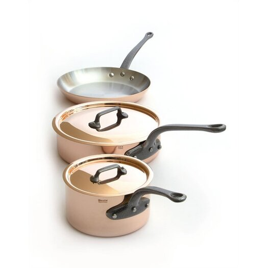 Mauviel M'Heritage Copper 5-Piece Cookware Set