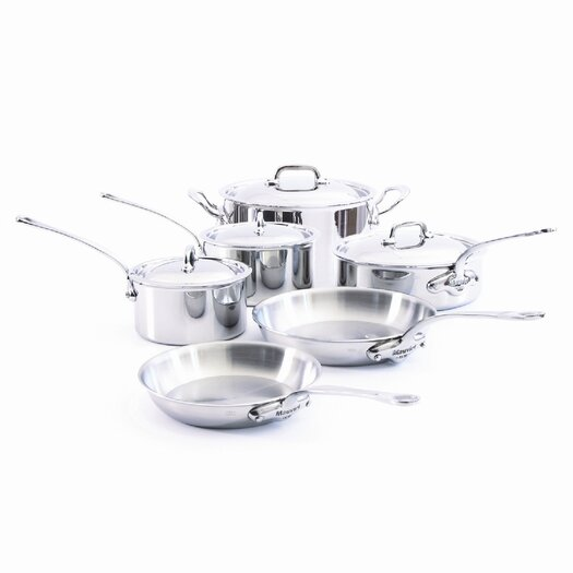 Mauviel M'Cook Stainless Steel 10-Piece Cookware Set