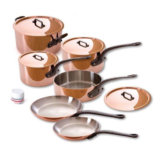 Mauviel M'Heritage Copper 10-Piece Cookware Set