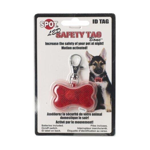 Ethical Pet Safe T Tag Bone Shape Led ID Dog Safety Light