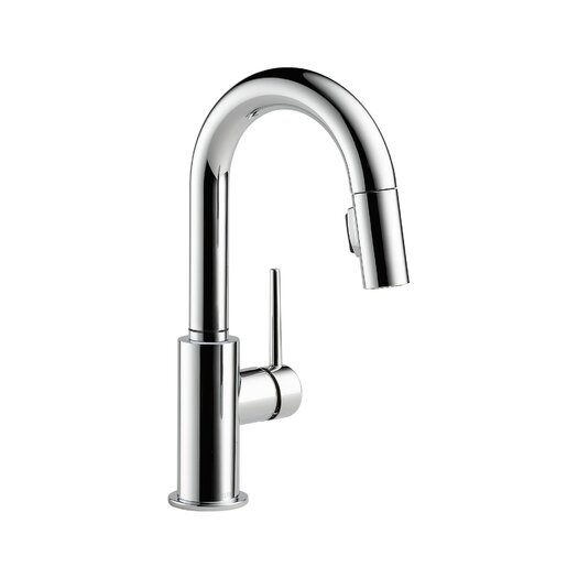 Delta Trinsic Single Handle Single Hole Pull-Down Kitchen Faucet with Diamond Seal Technology