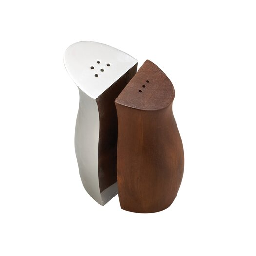 Nambe Cradle Salt and Pepper Shakers
