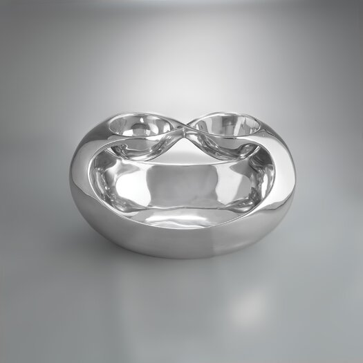 Nambe Infinity Double Chip and Dip Tray