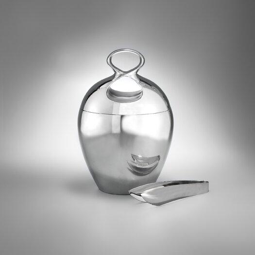 Nambe Infinity Ice Bucket with Tongs