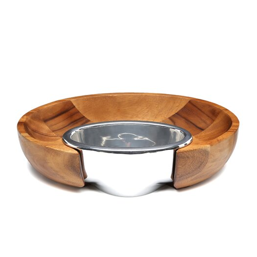 Nambe Dharma Chip and Dip Tray