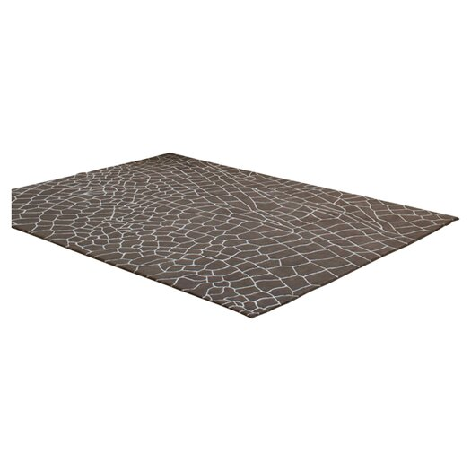 Gandia Blasco Hand Knotted Dragonfly Taupe Abstract Area Rug