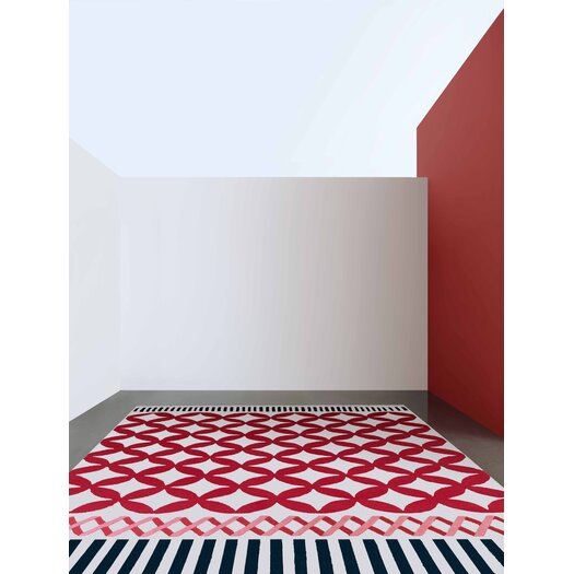 Gandia Blasco Kilim Catania Red Geometric Area Rug