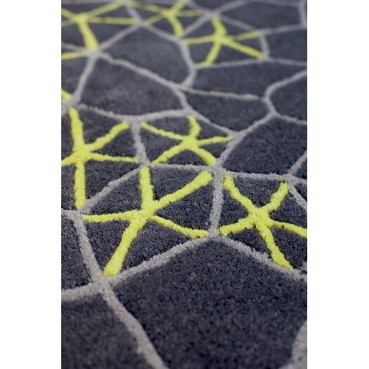 Gandia Blasco Hand Tufted Materia Grey Abstract Area Rug