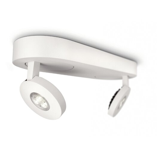Philips Consumer Luminaire Two Light Dimmable Ceiling Light in White