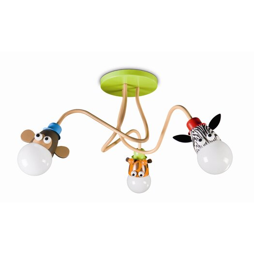 Philips Consumer Luminaire Kidsplace 3 Light Ceiling Lamp