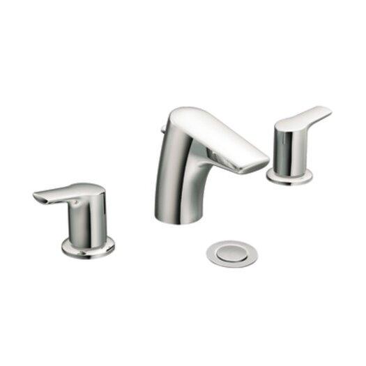 Moen Method Double Handle Widespread Low Arc Bathroom Faucet