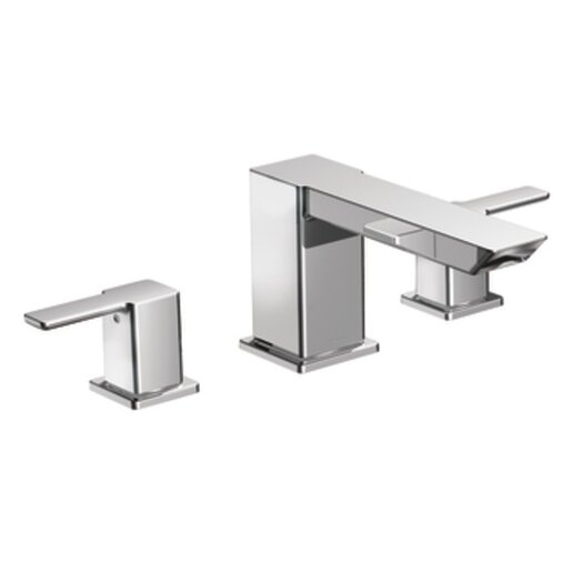 Moen 90 Degree Double Handle High Arc Roman Tub Faucet