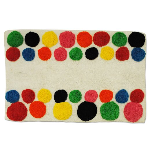 Multi Dot Tufted Bath Rug