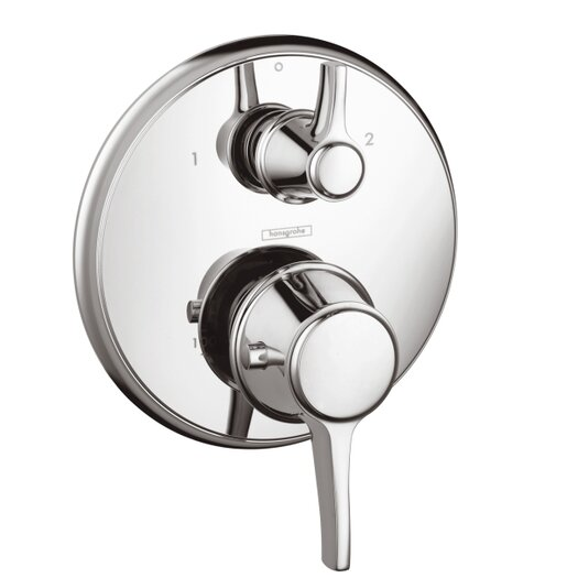 Hansgrohe Ecostat C Thermostatic Trim with Volume Control and Diverter