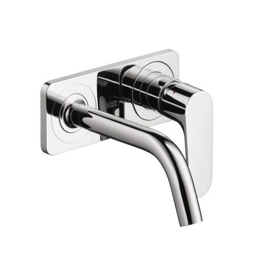 Hansgrohe Axor Citterio M Single Handle Wall Mounted Faucet with Baseplate