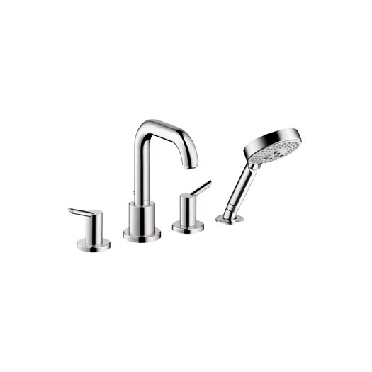 Hansgrohe Focus 4 - Hole Dual Function and Diverter Roman Tub Faucet With Hand Shower