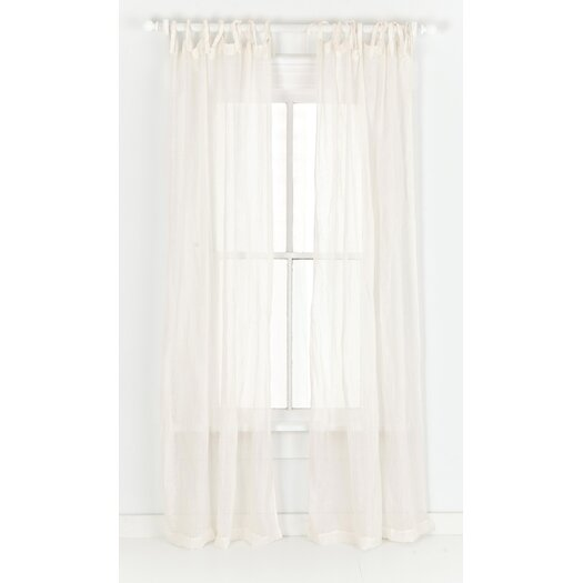 Pine Cone Hill Savannah Linen Gauze Tab Top Curtain Panel