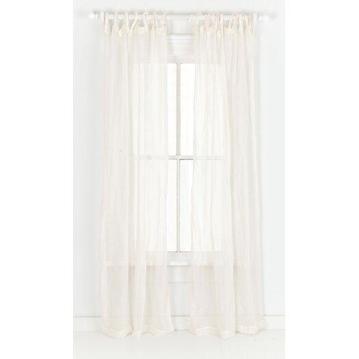 Pine Cone Hill Savannah Linen Gauze Tab Top Curtain Panel