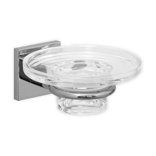 Hansa HansaQuadris Soap Dish Holder with Glass Dish