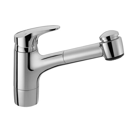 Hansa Hansamix One Handle Single Hole Kitchen Faucet with Pull Out Spray