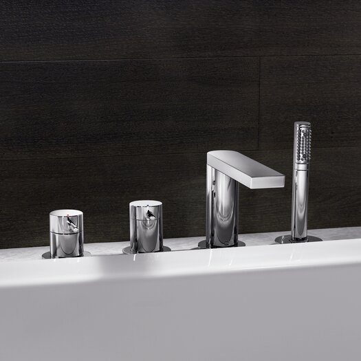 Hansa HansaStela Double Handle Deck Mount Roman Tub Faucet Trim