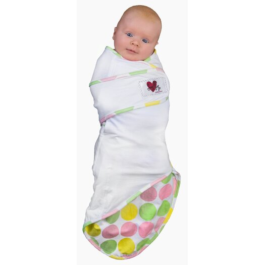 Go Mama Go Snug and Tug Swaddle Blanket, Tickled Pink - Small