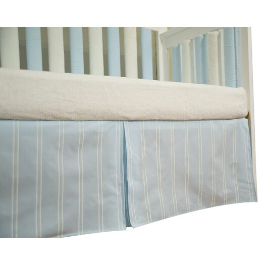 Go Mama Go Baby Basics Striped Box Pleat Crib Skirt