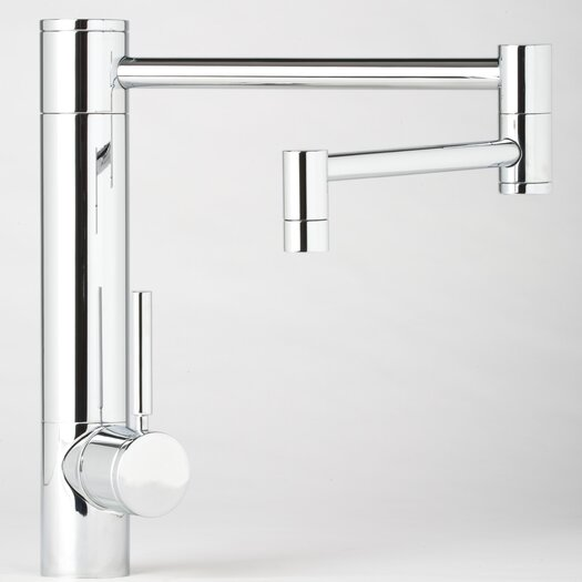 """Waterstone Hunley 12"""" One Handle Single Hole Pot Filler Kitchen Faucet with Built-In Diverter and Lever Handle"""