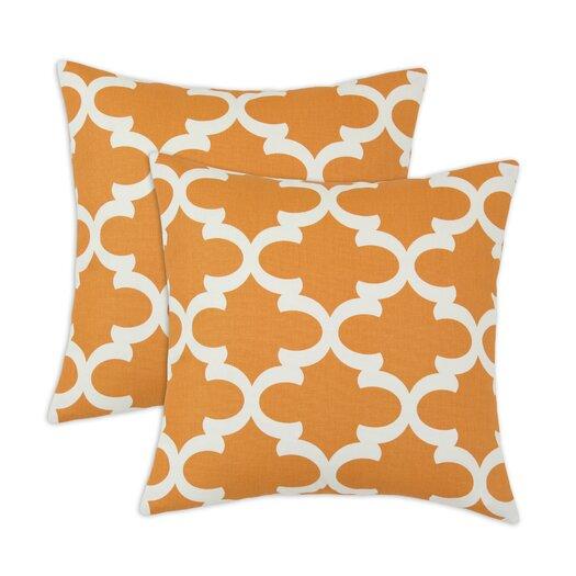 Chooty & Co Fynn Cinnamon Macon Fiber Throw Pillow