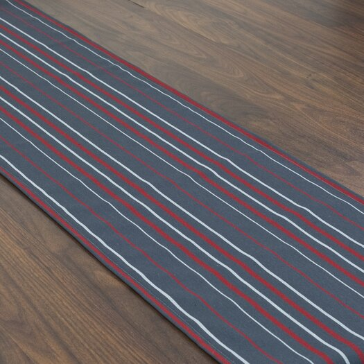 Chooty & Co Multi Stripe Topstitched Table Runner