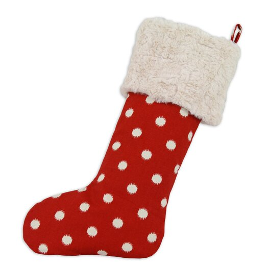 Chooty & Co Ikat Dot Lined Trimmed Stocking